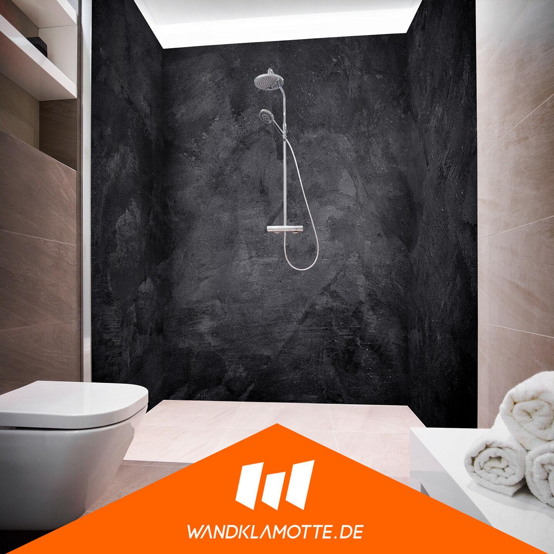 Eck Duschrückwand drei Platten Alu Bad Dusche Wand Royal Moonbrush