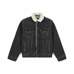 Levi-039-s-Men-039-s-Premium-Cotton-Sherpa-Lined-Denim-Trucker-Jean-Jacket-163650097