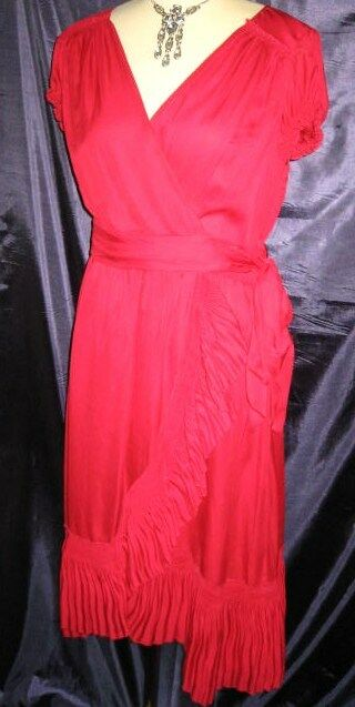 Coast Red 'Sinead' Dress, Size 12; RRP   BNWT