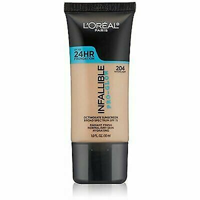 website for discount separation shoes fashion styles Loreal Paris Infallible Pro-glow 24hr Foundation 204 Natural Buff for sale  online | eBay