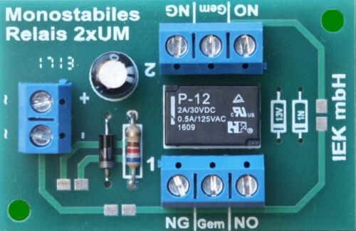 Relais carte relais carte, relais Monostabil, monostabiles Relais 2 x Pour, 9-24 V