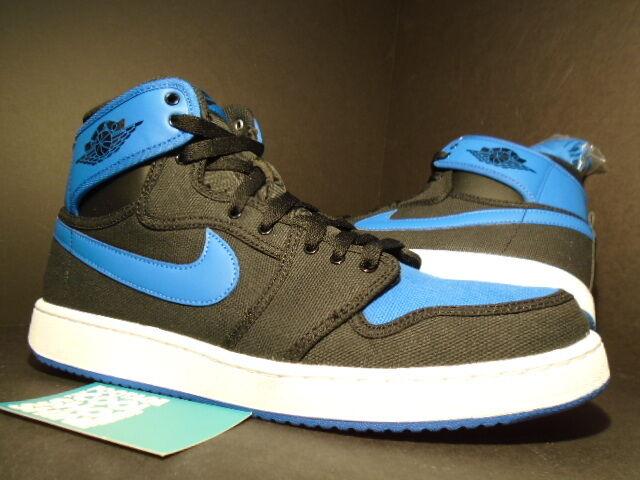 Nike Air Jordan I Retro 1 KO HIGH OG AJKO BLACK SPORT ROYAL BLUE WHITE BRED 9.5