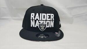 NEW-ERA-9FIFTY-ADJUSTABLE-SNAPBACK-HAT-NFL-OAKLAND-RAIDERS-RAIDER-NATION