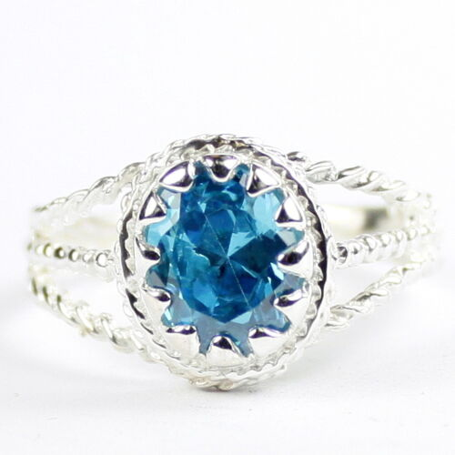 925 Sterling Silver Ring Aquamarine SR070