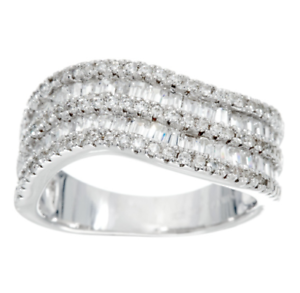 ITALIAN SILVER 18K GOLD-PLATED STERLING SATIN FINISH DIAMONIQUE RING SIZE 5 QVC