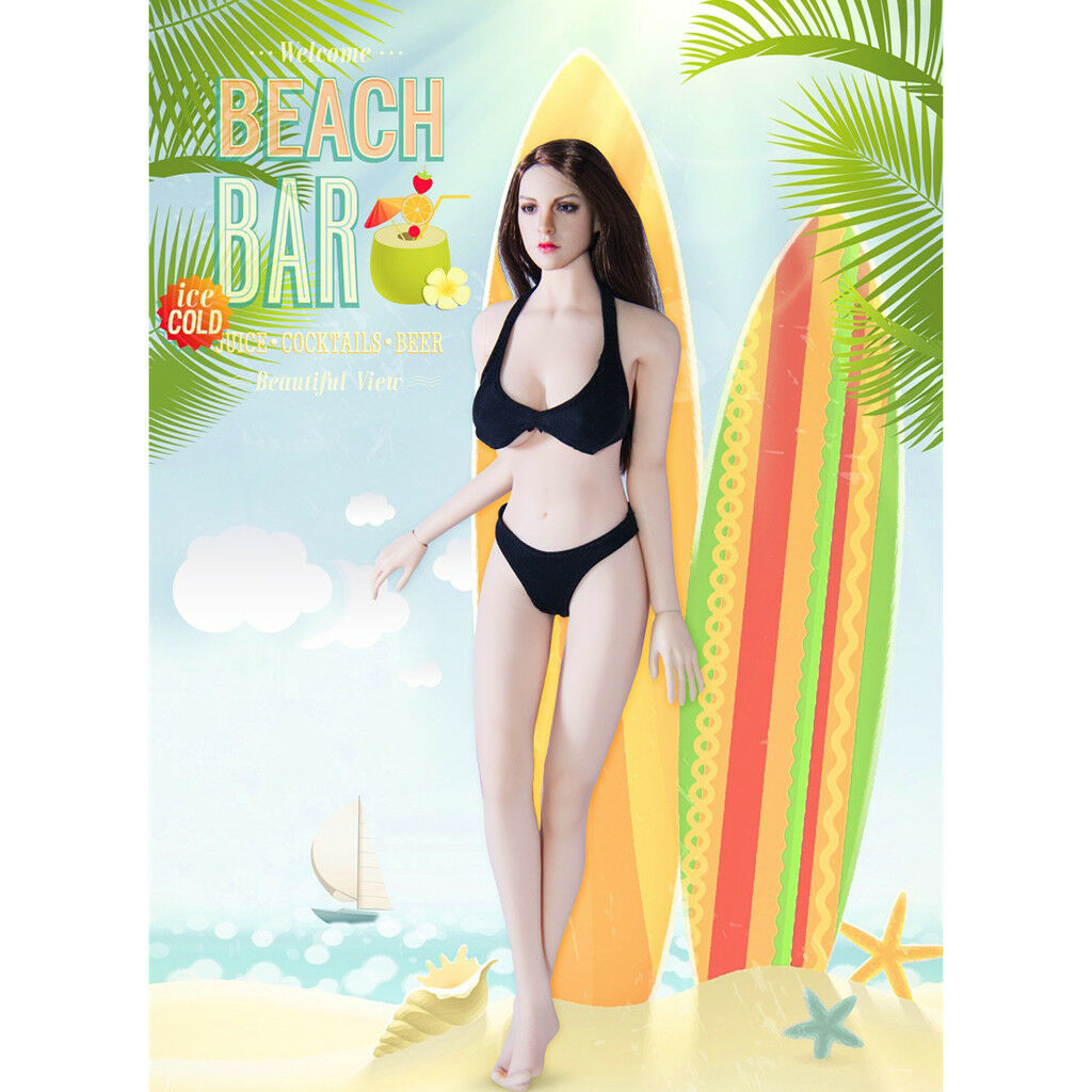 "1//6 12/"" Figure Doll Toy Accessory Model Silver Metal Female Underwear Bikini Set"
