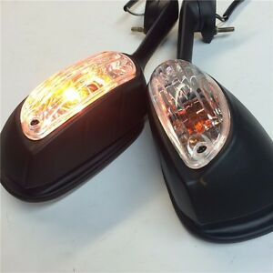 Mirrors For Suzuki GSXR600 750 2009-2012 GSXR1000 LED light Turn Signals Afterma