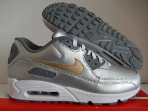 quality design f6ec5 fa91f Image is loading NIKE-AIR-MAX-90-ID-SILVER-GOLD-WHITE-