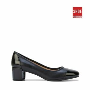 Hush Puppies FARRAH Black Womens Heels Dress/Formal Leather Heels
