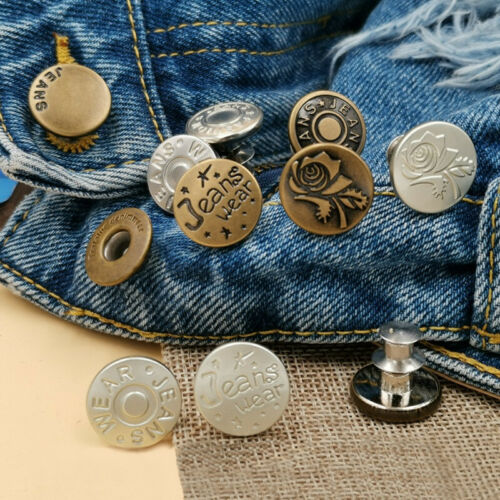 Denim Jeans Waist Buttons Stud Hammer On For Repair Replacement  Making Acces