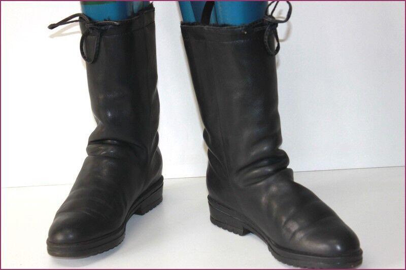 ARCUS mi gefütterte seht Stiefel schwarzes Leder t 38 seht gefütterte guter Zustand 7830b8