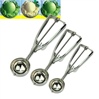 Stainless Steel Ice Cream Craft Scoop Cookie Mash Muffin Spoon