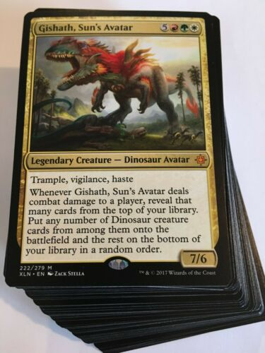 ***Custom Commander Deck*** Gishath Sun/'s Avatar Dinosaurs EDH Mtg Magic Cards