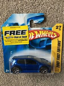 Hot-Wheels-First-Edition-Blue-VW-Golf-GTI-MOC-Very-Rare-Volkswagen-combine-P-amp-P