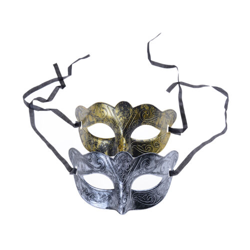 Retro Men Halloween Silver Gold Venetian Mardi Gras Masquerade Party Ball Z0HWC
