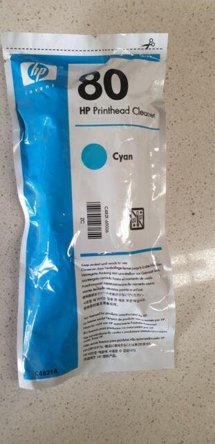 Genuine C4821A HP 80 Cyan DesignJet Printhead and Printhead Cleaner 1050C 1055CM