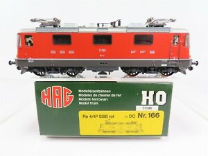 HO-Scale-HAG-166-SBB-Swiss-Federal-Re-4-4-European-Electric-Locomotive-11196