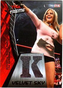 TNA-Velvet-Sky-K-2010-Xtreme-GOLD-Event-Worn-Shirt-Memorabilia-Card-SN-34-of-50