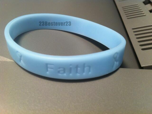 2 Light Blue Prostate Cancer Awareness Silicone Bracelet Wristbands