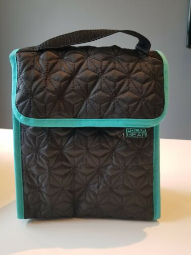 New Black Green Cooler Drinks Travel Picnic Lunch Work School Accessory Bag box
