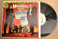 Famous Monsters Speak Dracula Frankenstein Record lp NM