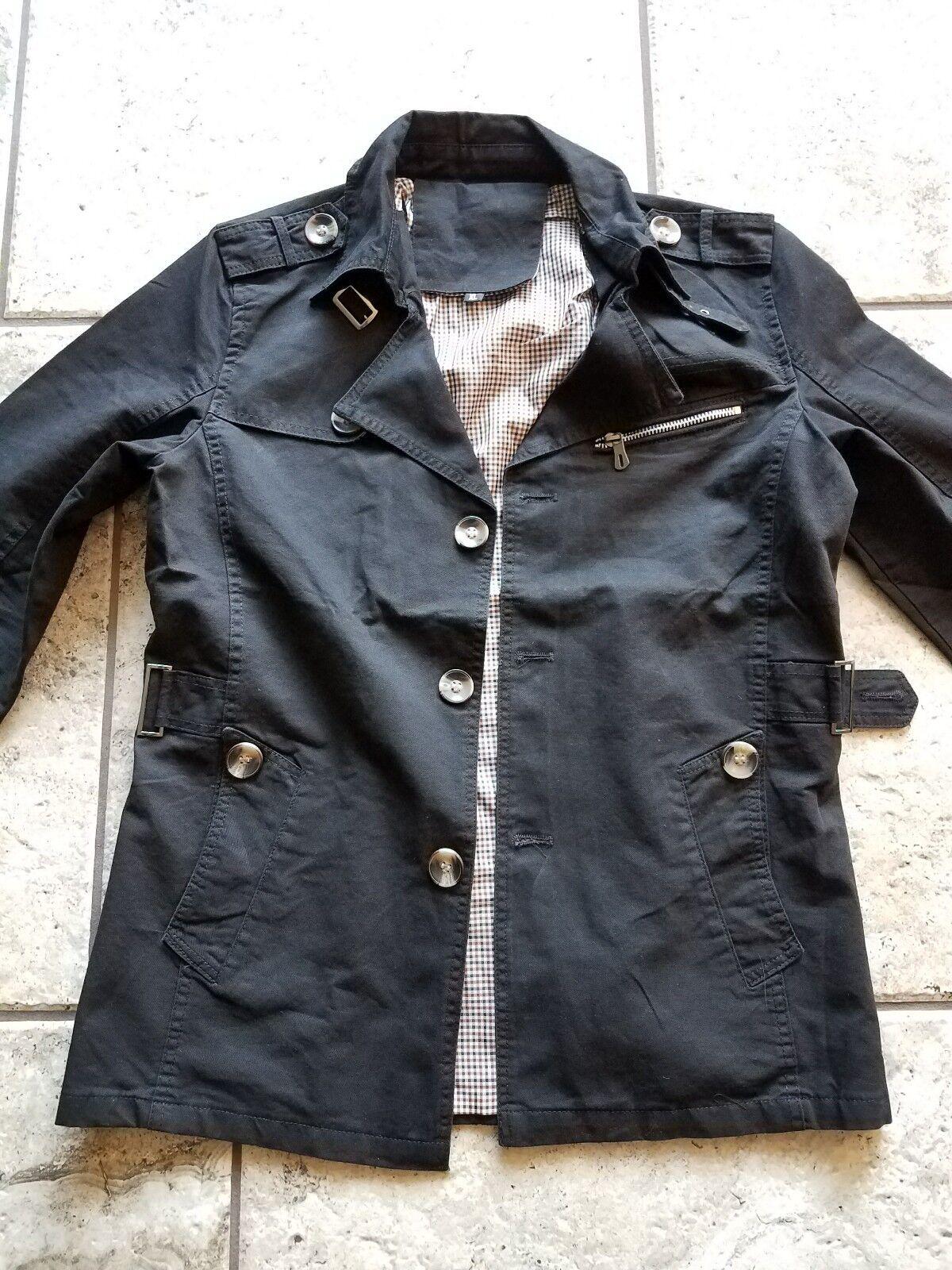 Men single breast lapel trench coat. bnwt  waist  size M( all season) slim fit