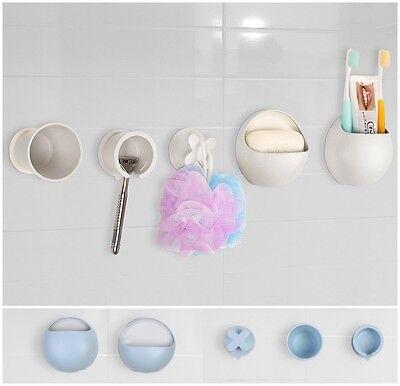 Badset SimpleLife 5-tlg. Badezimmer Saugnapf Kunststoff Bad WC Dusche Ablagen
