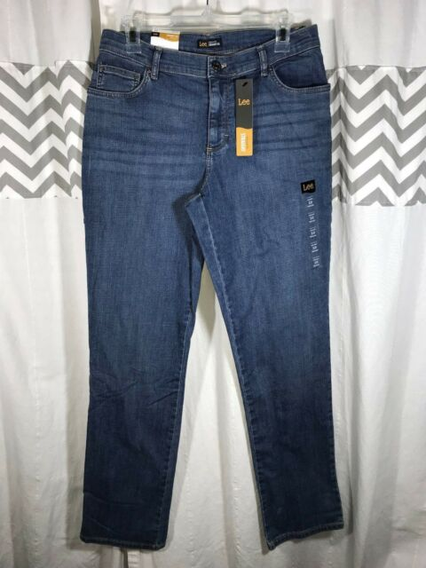 842079c4 Size 10 Women's Lee Relaxed Fit Straight Leg Jeans 31x32 New Color =  Meridian