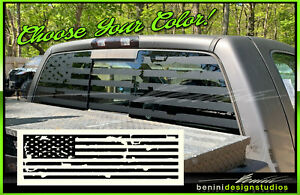 Truck Back Window Decals >> Details About American Flag Pick Up Truck Back Window Decal Universal For Jeep Tundra Tacoma