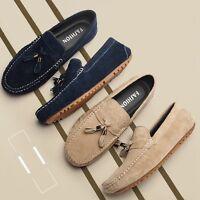 Male Soft Loafers Men Fringe Moccasins Slip On Flats Outdoor Driving Boat Shoes