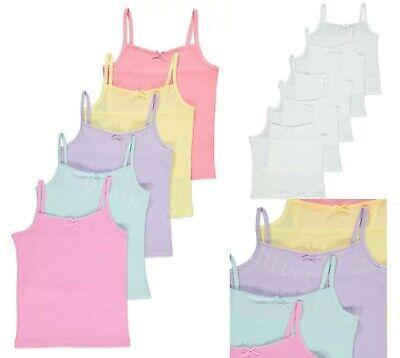 9 x Girls 100/% Cotton Vests White//Pink 1.5-2 2-3 3-4 5-6 7-8 Years