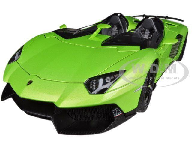 marcas en línea venta barata Lamborghini Aventador J Roadster Verde  Diecast Model Car Car Car By Autoart 74677  bienvenido a comprar