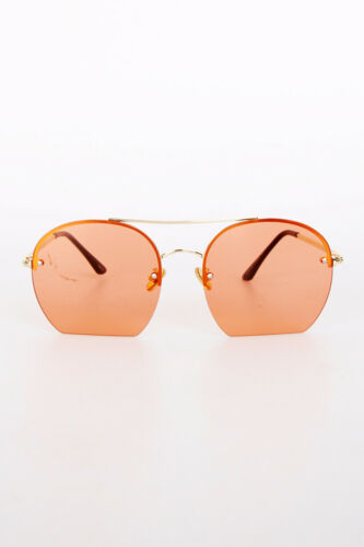 New Designer Style Gold Metal Colour Tinted Lens UV Summer Holiday Sunglasses