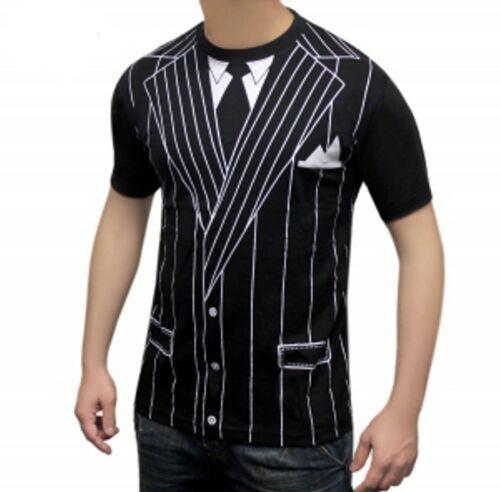 Mens Instant Gangster Schoolboy Pimp Cowboy Fancy Dress Costume Fun T-SHIRT