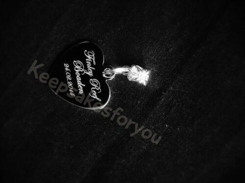 Engraved Stainless Steel  Finger Heart /& Attachment // Hand// Foot Print