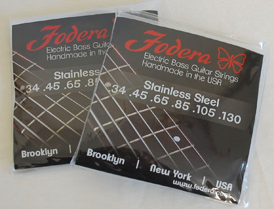 Fodera Bass Saiten 6-String Sets 34130 Stainless Steel - 2 Sätze