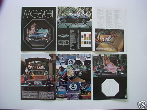 MGB GT NOS Factory British Leyland Dealer Brochure
