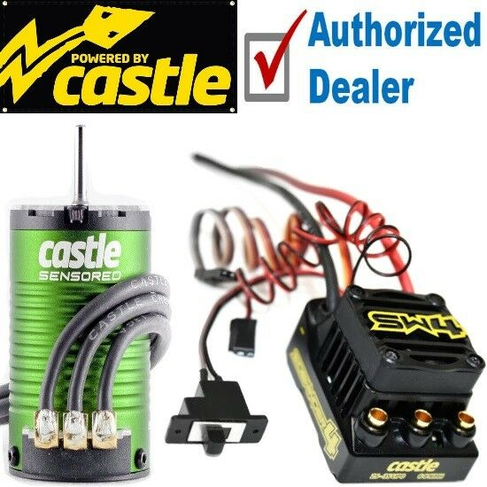 Castle Creations SW4 Sensorless WP Esc + 1406 4600KV Sensor Motor Combo