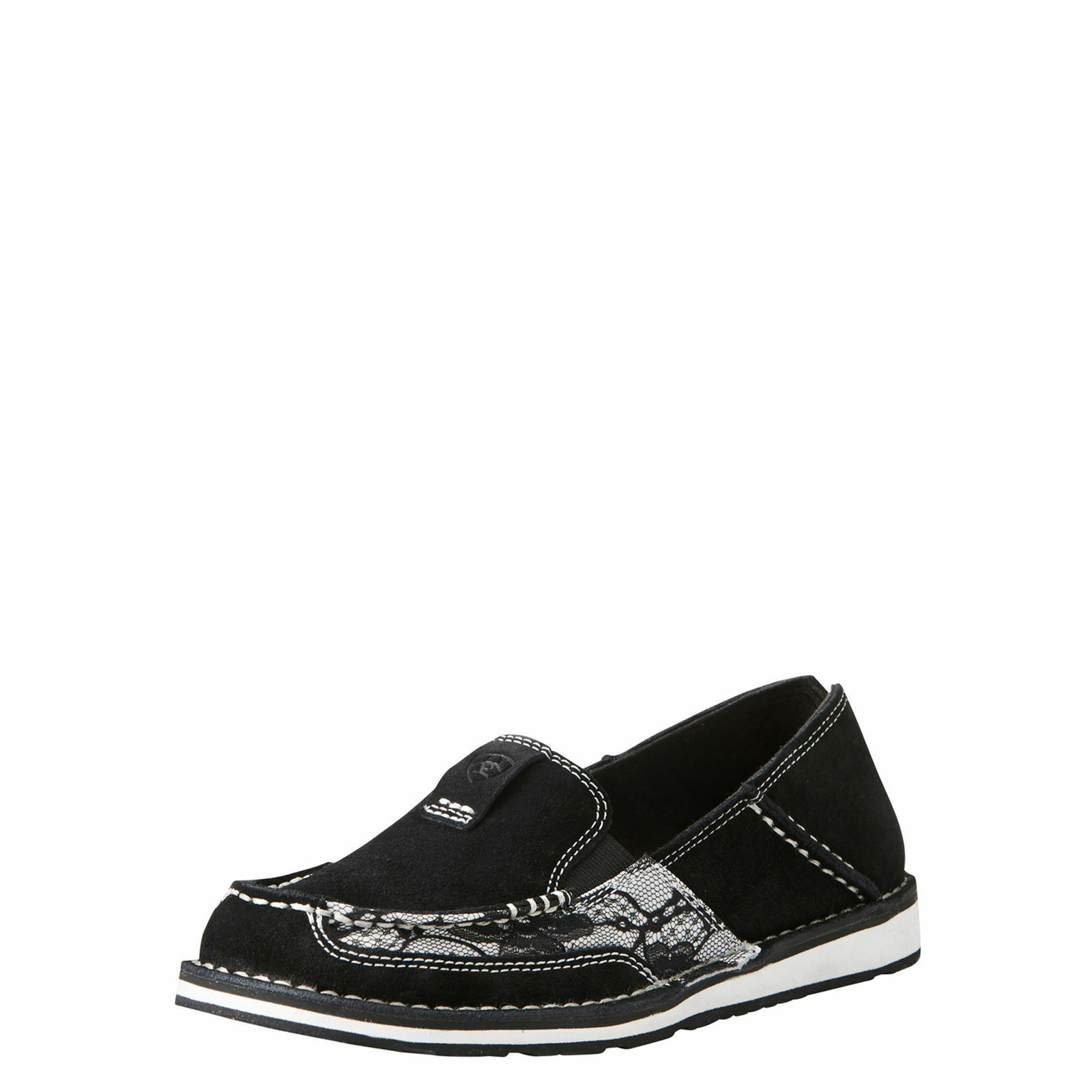 Ariat 10021753 Cruiser Black Lace Western Casual Slip On Moc Toe shoes Loafers