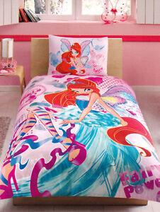 Copripiumino Winx.Bedding Duvet Cover And Pillowcase Winx Bloom Harmonix Pink Ebay