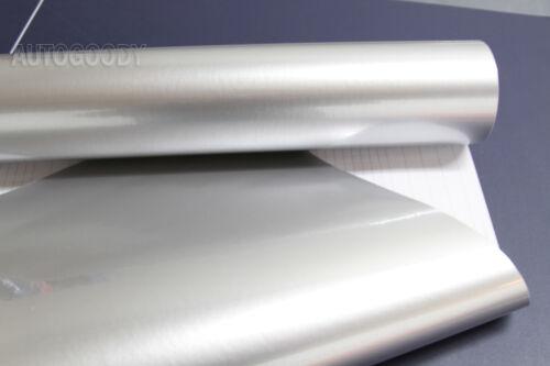 "108/"" x 60/"" Super Gloss Metallic Silver Vinyl Film Wrap Air Bubble Free 9ft x 5ft"