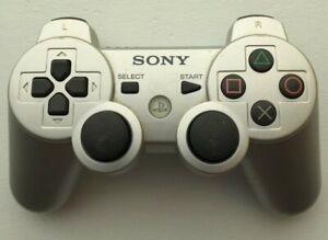 Sony Playstation 3 PS3 DualShock 3 Controller Silver Genuine OEM