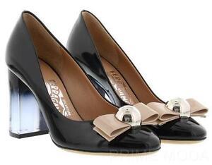 Salvatore Ferragamo Patent Leather Pumps Gr. US 5 H6bCp