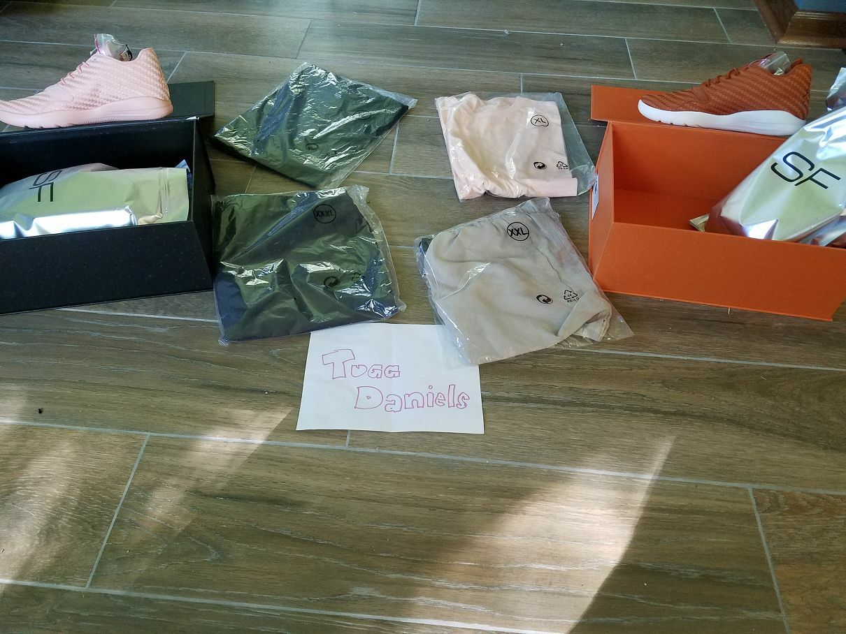 Solefly x Jordan Eclipse DS Size 12 Arctic orange&Desert orange w shirts shorts