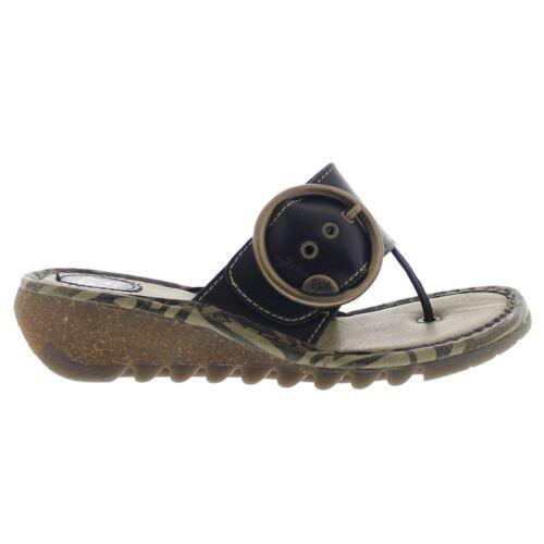 Fly London Trim Womens Black Sandals