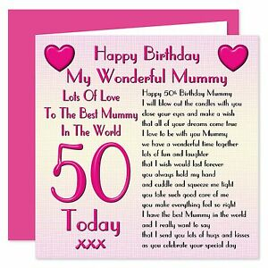 Image Is Loading My Wonderful Mummy Happy Birthday Card Age Range