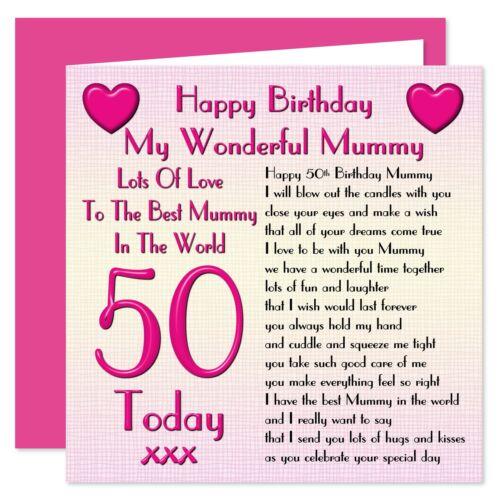 Age Range 18-50 Years My Wonderful Mummy Happy Birthday Card Lots Of Love