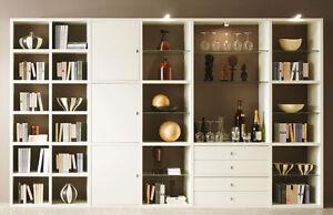 Das Bild Wird Geladen Toro Wohnwand Weiss U M Farben Regalsystem Wohnzimmer  Buecherregal