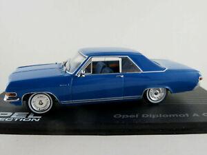 Ixo-51-Opel-diplomatico-a-Coupe-1965-1967-en-azul-1-43-nuevo-PC-vitrina