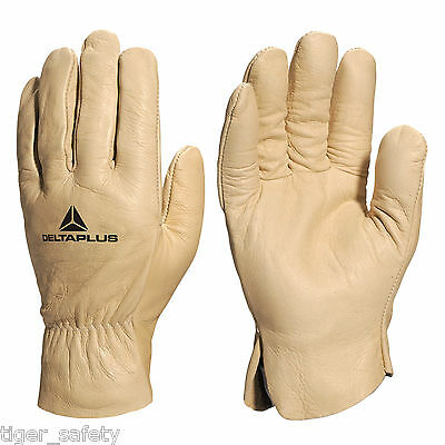 Yard, Garden & Outdoor Living Home & Garden X5 Pairs Delta Plus Venitex Fb149 Yellow High Quality Full Grain Leather Gloves